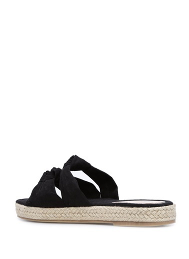 Miss Kg Hasır Tabanlı Sandalet Siyah